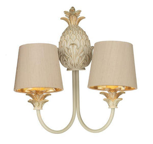 Cabana Cream/Gold Double Wall Light (shades sold separately) - ID 7961
