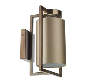 Chiswick Antique Brass Rectangular Frame Wall Light with Shade Colour Options - ID 10167