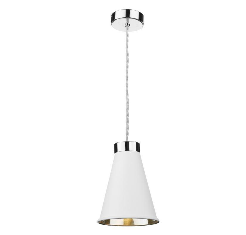 Hyde 1 Chrome and White Single Pendant - ID 10054