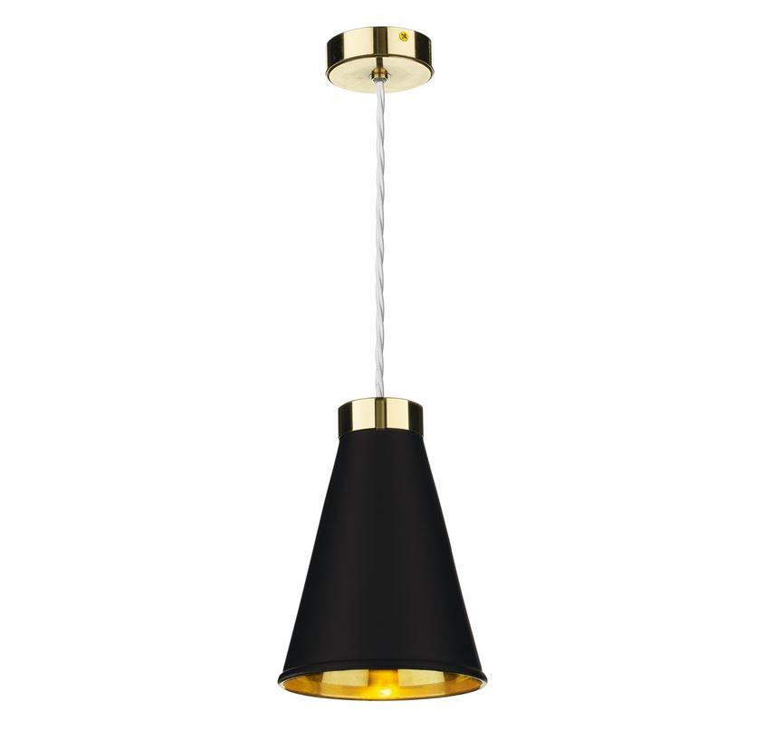 Hyde 1 Brass and Black Single Pendant - ID 10052