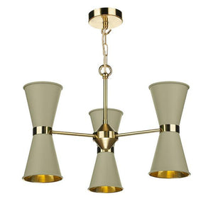 Hyde Brass and Pebble Up and Downlight 6 Light Pendant/Semi Flush - ID 10042