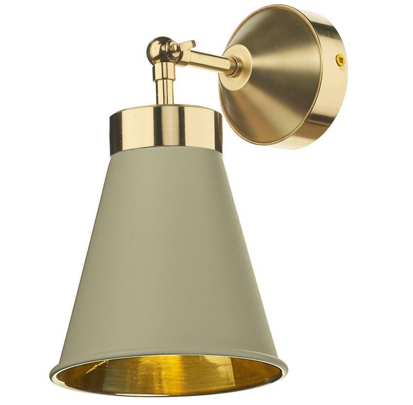 Hyde Brass and Pebble (Neutral) Single Wall Light - ID 10113