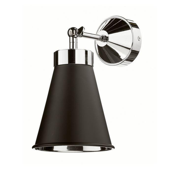 Hyde Chrome and Black Single Wall Light - ID 10114