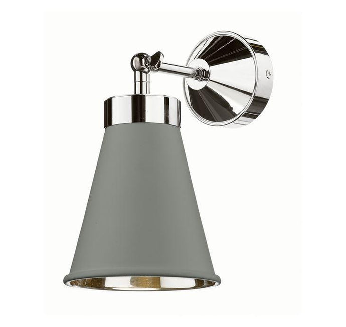 Hyde Chrome and Grey Single Wall Light - ID 10116