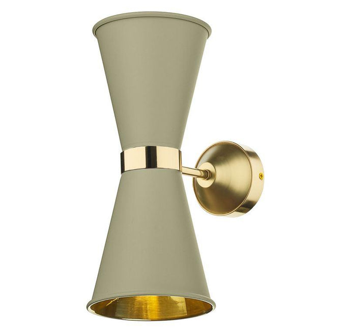 Hyde Brass and Pebble (Neutral) Double Wall Light - ID 10118