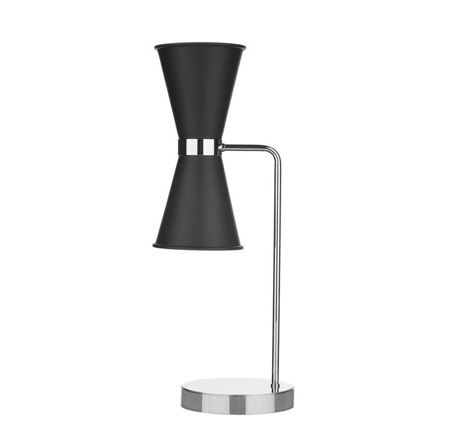 Hyde Chrome and Black Double Table Light - ID 10129