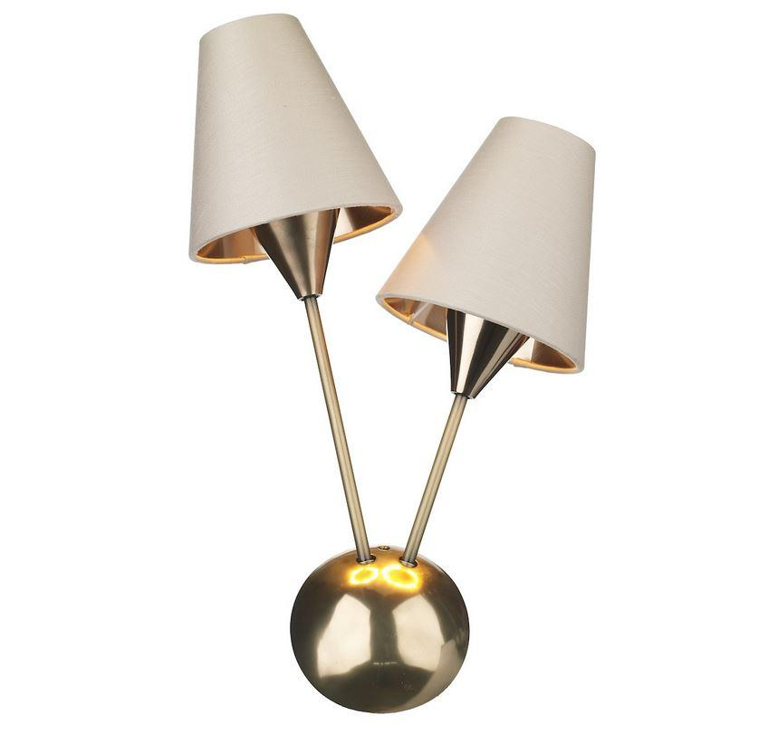 Sputnik Bronze Double Wall Light With Separately Priced Shades (With Shape & Colour Options) Left - ID 10169