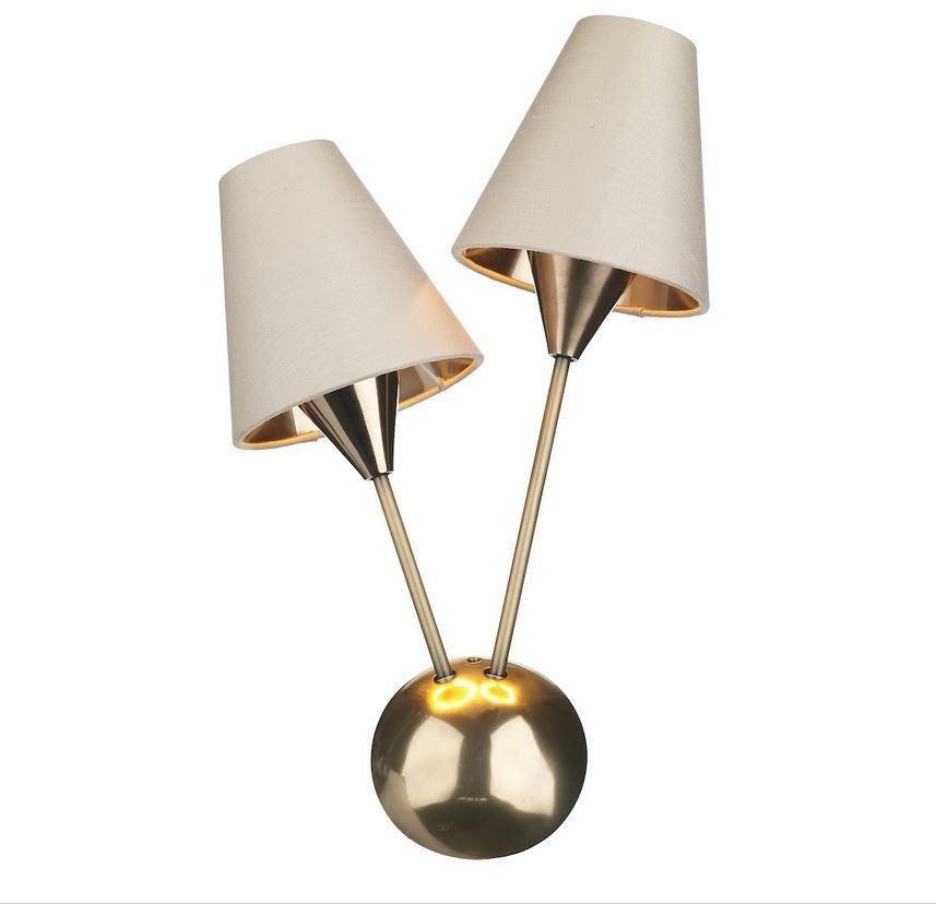 Sputnik Bronze Double Wall Light With Separately Priced Shades (With Shape & Colour Options) Right - ID 10170