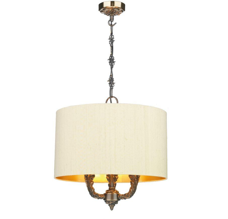 Valerio Bronze & Sea Mist Gold/Gold Shade Pendant (shade colour options available) - ID 10164