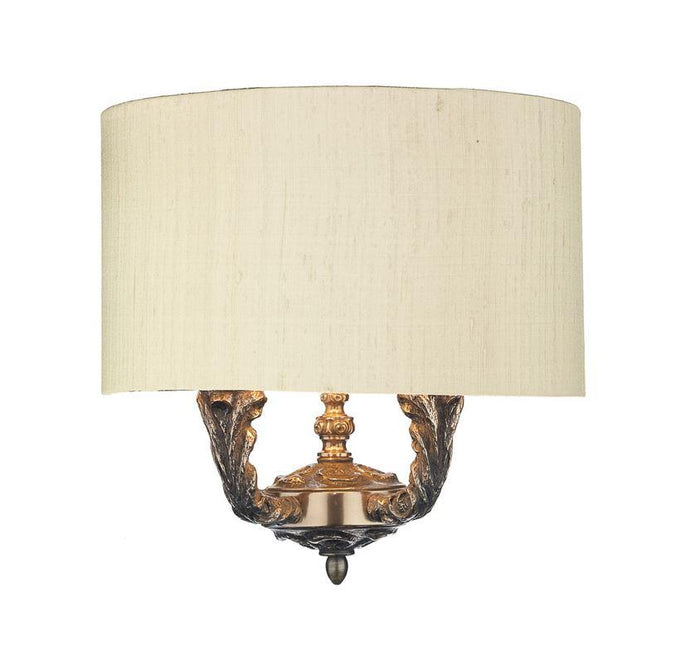 Valerio Bronze & Sea Mist Gold/Gold Shade Wall Light (shade colour options available) - ID 10165