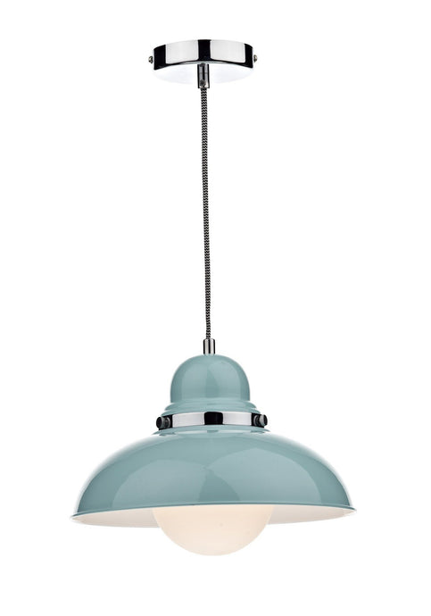 Dynamo Blue Suspended Ceiling Light - London Lighting - 1