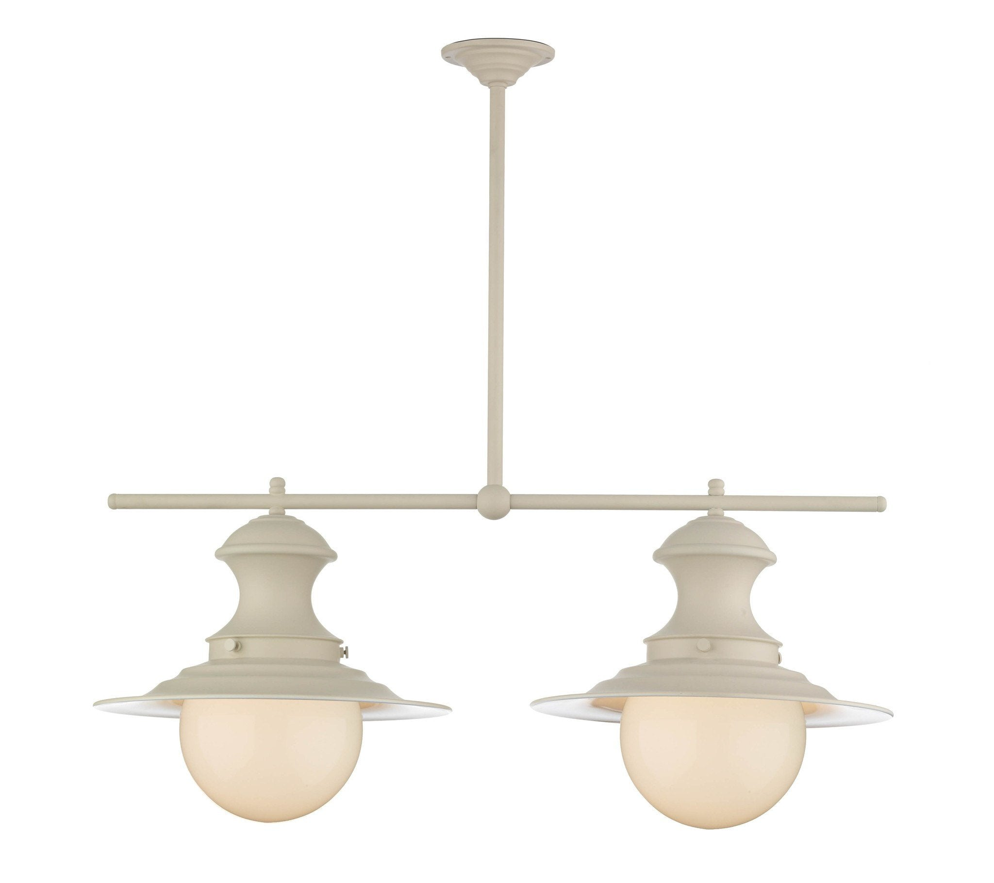 Twin Station Lamp in Cream - London Lighting - 1