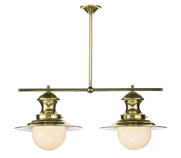 Twin Station Lamp in Brass - London Lighting - 1