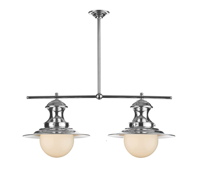 Twin Station Lamp in Chrome - London Lighting - 1