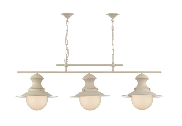 Triple Station Lamp in Cream - London Lighting - 1