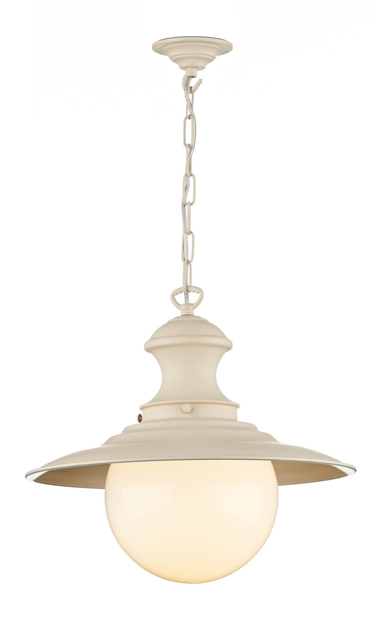 Station Lamp in Cream - London Lighting - 1