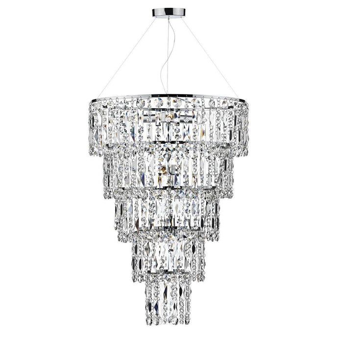 Escala Polished Chrome 6 Lights Pendant Light - London Lighting - 1