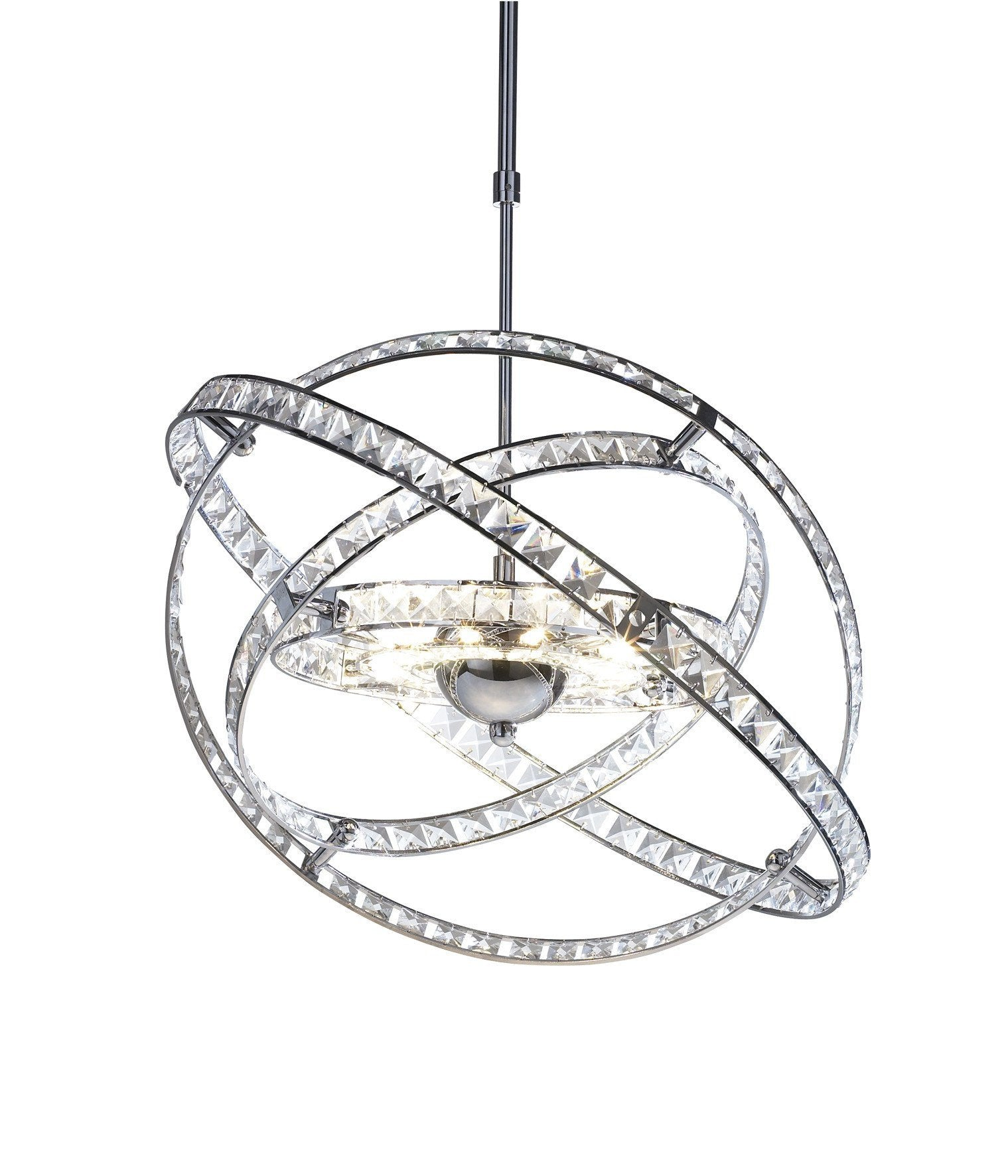 Eternity Chrome 10 Lamp Light Fixture - London Lighting - 1