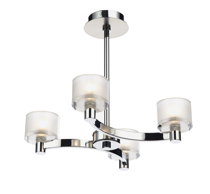 Eton Chrome 4 Arm Ceiling Light - London Lighting - 1