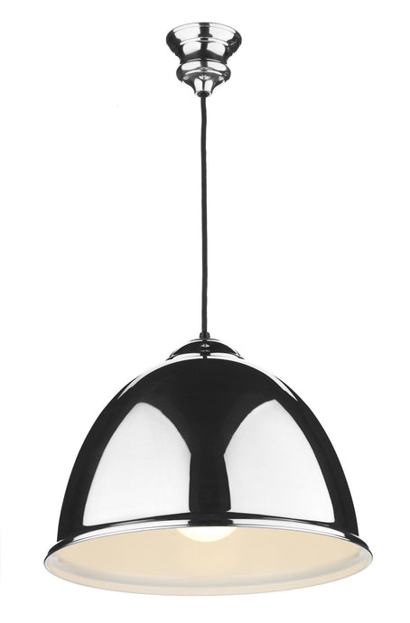 Euston Chrome & Black Ceiling Suspension - London Lighting - 1