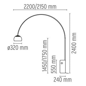 FLOS Arco Floor Lamp - London Lighting - 2