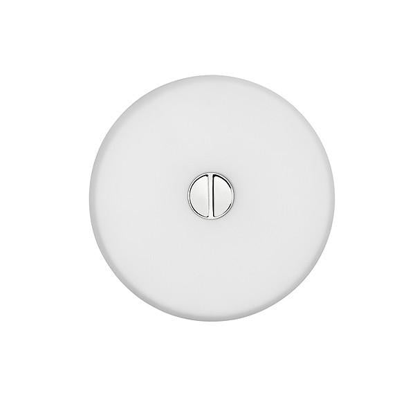 FLOS Mini Button + Opal Polycarbonate Diffuser Wall or Ceiling Light - London Lighting - 1