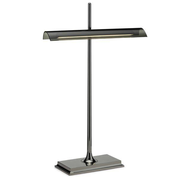 FLOS Goldman Nickel/Fumee Table Lamp - London Lighting - 1