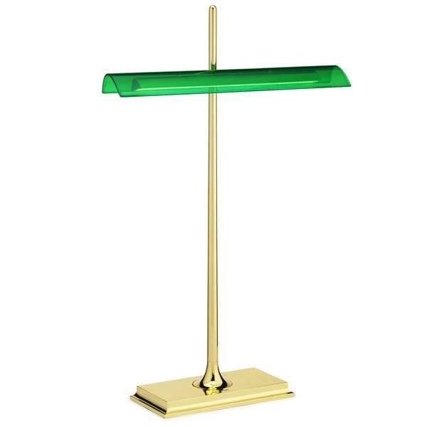 FLOS Goldman Brass/Green Table Lamp - London Lighting - 1