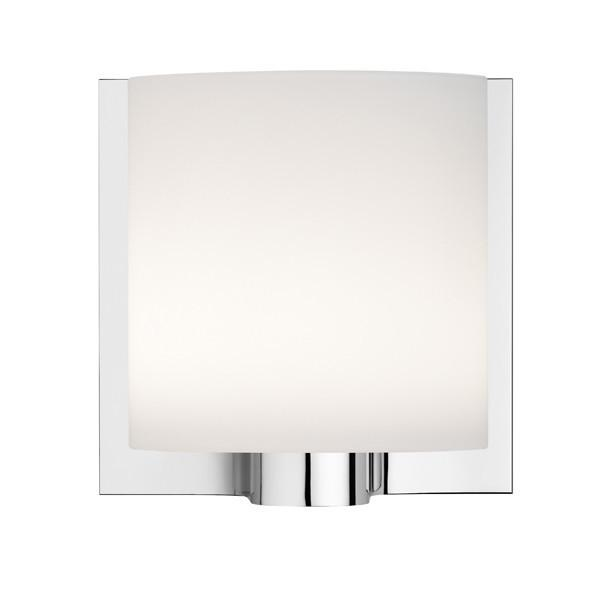 FLOS Tilee Chrome with Opal White Glass Wall Light - London Lighting - 1