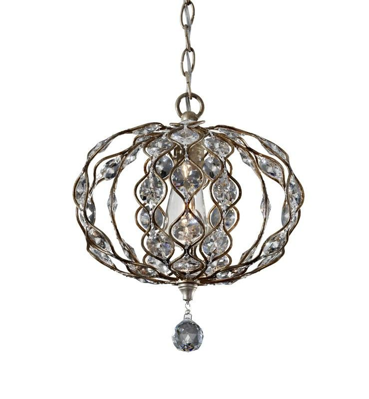 Feiss Leila 1 Light Mini Chandelier - London Lighting - 1