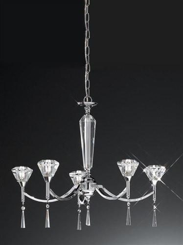 Desian 5 Arm Crystal Chandelier - London Lighting - 1