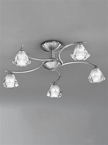 Twista 5 Arm Ceiling Light - London Lighting - 1