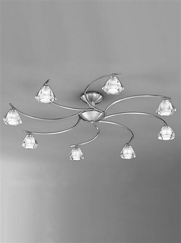 Twista 8 Arm Ceiling Light - London Lighting - 1