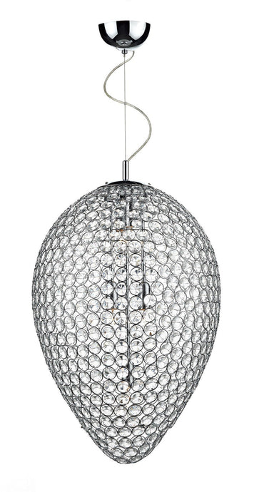 Frost Chrome 5 Lamp Pendant Light - London Lighting - 1