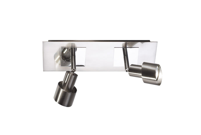 Futura Satin Chrome Double Spotlight - London Lighting - 1