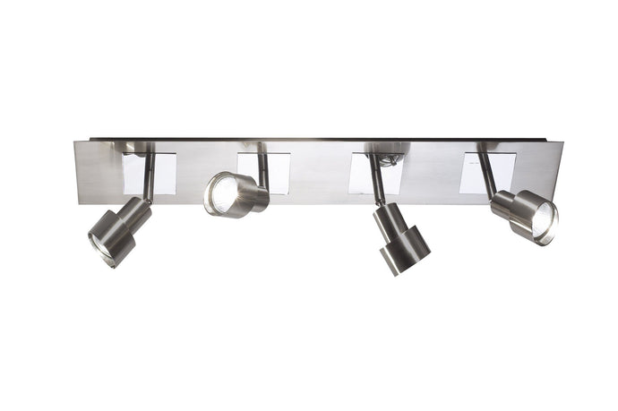 Futura Satin Chrome Spotlight Bar - London Lighting - 1