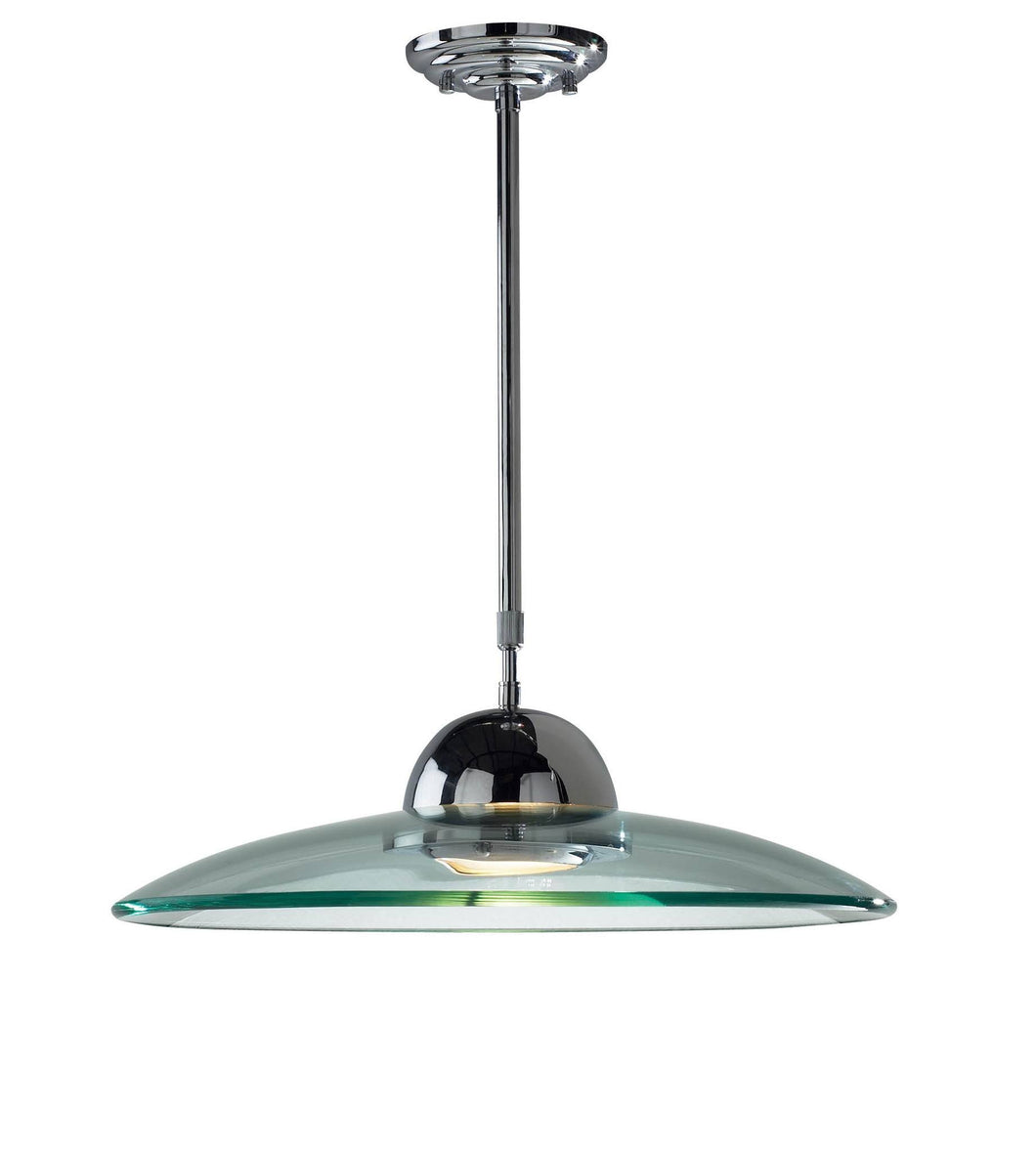 Hemisphere Chrome Lamp Ceiling Light - London Lighting - 1