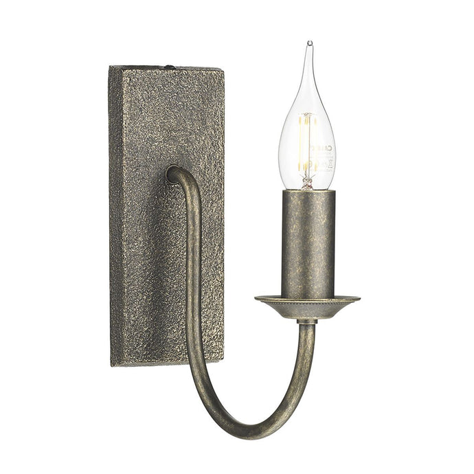 1 Light Wall Light In Polished Bronze - ID 7933