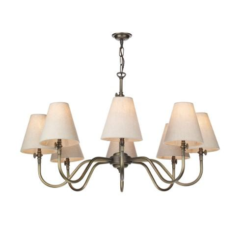 Hicks 8 Light Antique Brass Pendant (shades separate) - ID 10304