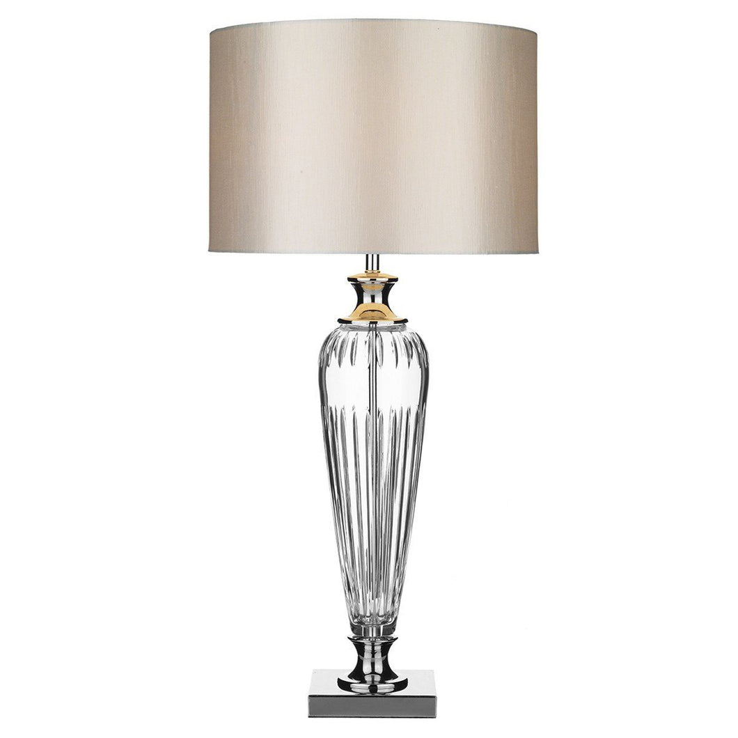 Hinton Polished Chrome Silver Table Lamp - London Lighting - 1