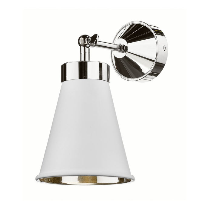 Hyde Chrome and White Single Wall Light - ID 7871