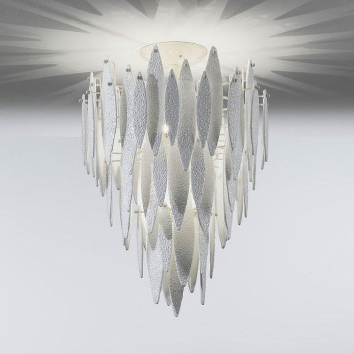 Ice Rain Large Murano Glass Ceiling Light