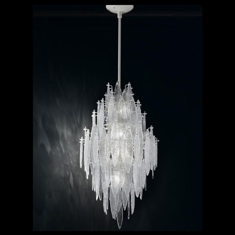 Ice Rain Small Murano Glass Chandelier