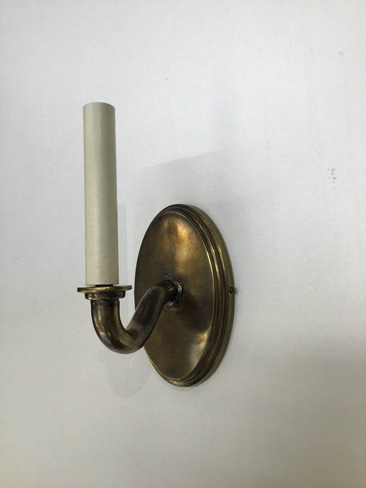Classic Reproductions Antique Brass Single Wall Light - ID 2645