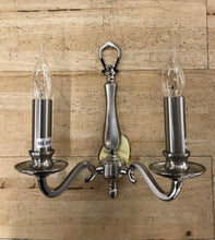 Chrome 2 Arm Traditional Wall Light