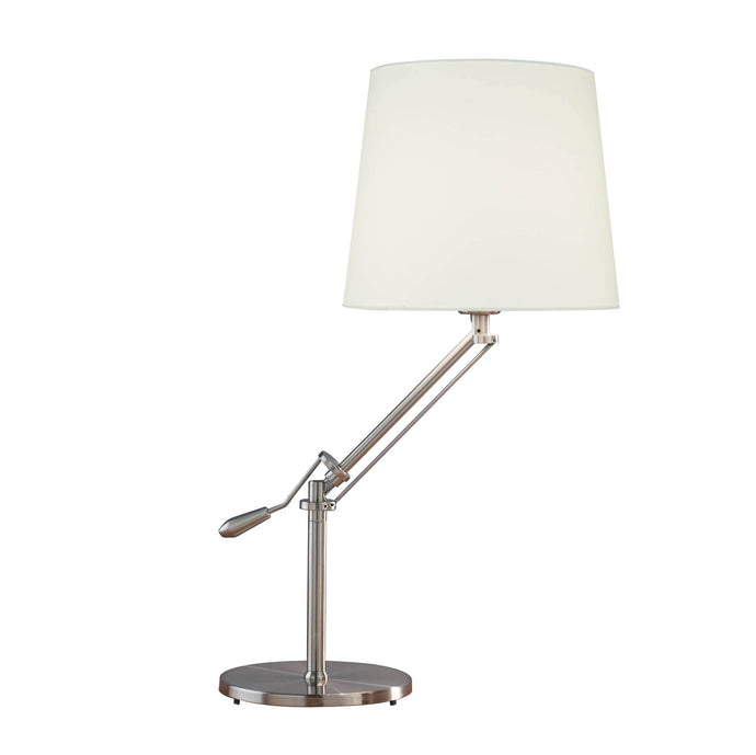 Dar Infusion Satin Chrome Table Lamp - London Lighting - 1