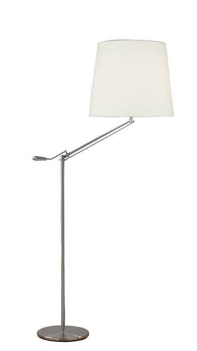 Dar Infusion Satin Chrome Floor Lamp - London Lighting - 1