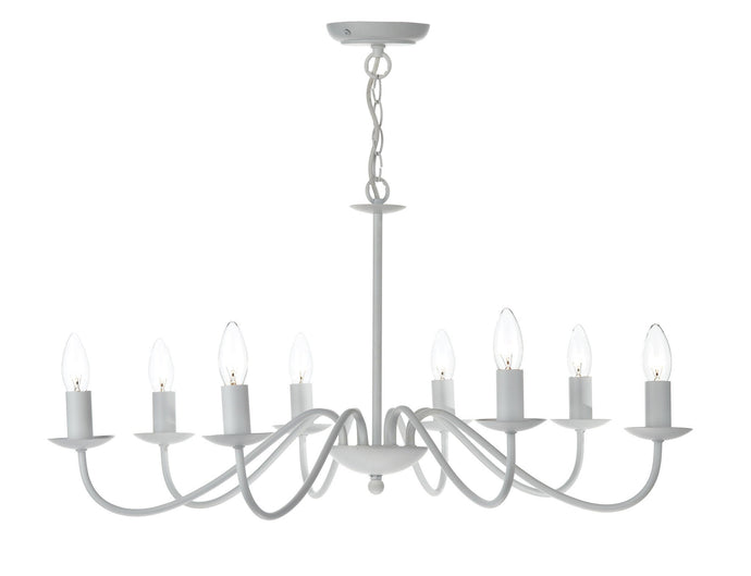 Irwin White Chandelier - London Lighting - 1