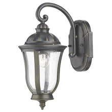 Johnson Black Gold Wall Bracket Lantern - London Lighting - 1