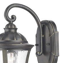 Johnson Black Gold Wall Bracket Lantern - London Lighting - 3